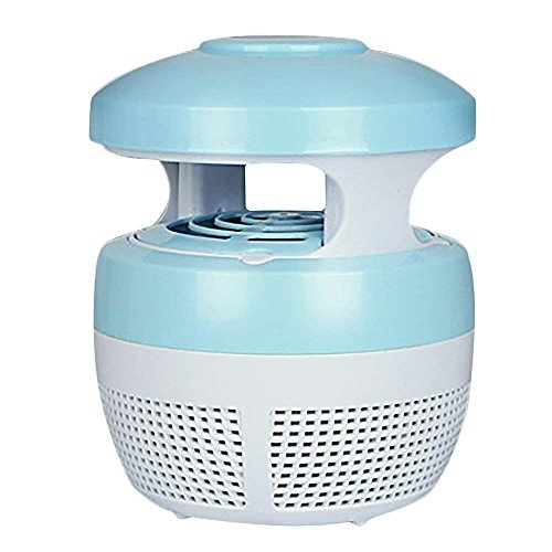 XYJGWXDD Mosquito Killer USB LED Lamp, Cargador USB Anti Electric UV Light Zappers Fly Insect Killer Lamp (Azul)