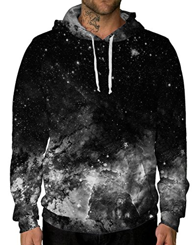 INTO THE AM Dark Matter Long Sleeve Lightweight Hoodie Sweatshirt (Large)