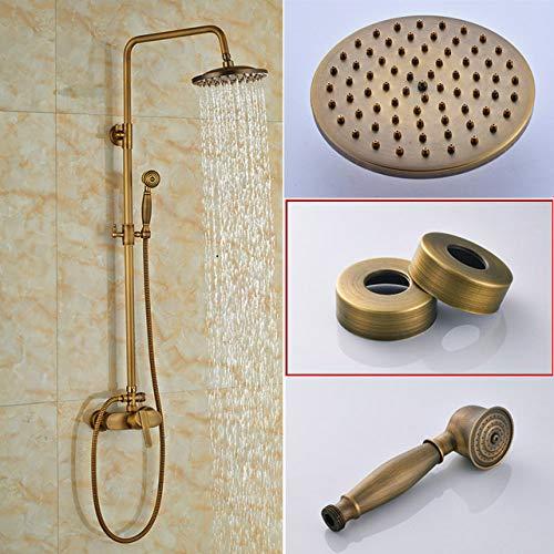 SUISHAO Duschset Retro-Stil Dusche Wasserhahn Set Einhand mit Handbrause Mischbatterien Wandhalterung Antik Badezimmer Badewanne Dusche Mischbatterie, China