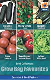 Vegetables Seed Collections - 6 in 1 pack - Grow Bag Favourites