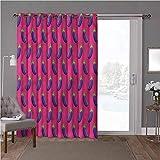 YUAZHOQI cortinas aisladas de reducción de ruido, berenjena, alimentos veganos simétricos, 100 x 96 pulgadas de ancho persianas verticales para puerta de honda (1 panel)