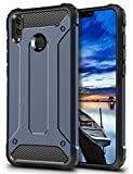 Coolden Honor 8X Hülle,Premium [Armor Serie] Outdoor Stoßfest Schutzhülle Tough Silikon TPU + PC Bumper Cover Doppelschichter Handyhülle für Huawei Honor 8X Smartphone - Blau