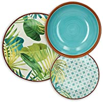 Tognana Jungle Service de table 18 pièces, porcelaine, multicolore