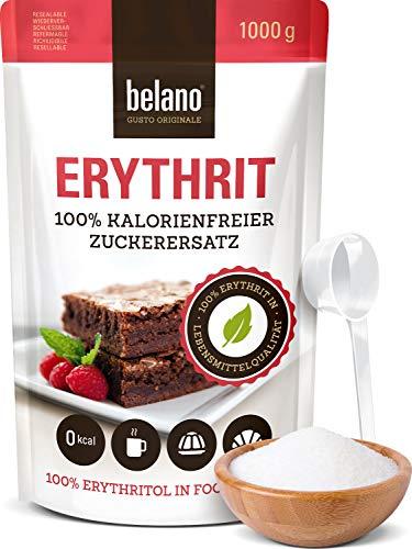 Erythrit 100% Erythritol reiner Zuckerersatz 1kg - wiederverschließbare Verpackung