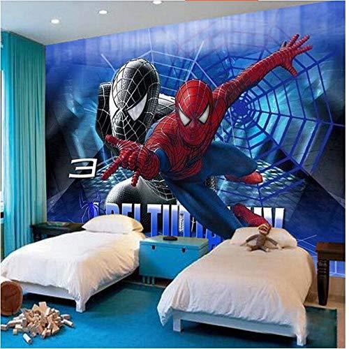 Papier peint mural - Toile de fond - Papier peint photo - Moderne - Grand format - Animation 3D - Spiderman - Pour canapé, chambre à coucher - Fond TV - Motif Spiderman - Plus de 200 x 140 cm
