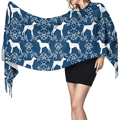 Niet toepassbare grote dames sjaal Duits kort haar Pointer Dog Soft Cashmere Feel Pashmina sjaal wraps 27x78 inch