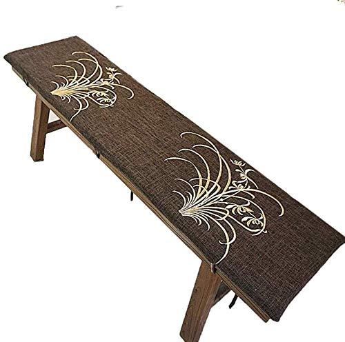JY&WIN Cojín para Banco de jardín, de 2-3 plazas, de Repuesto para Muebles de Exterior, Columpio, colchón para hamacas, cojín para Asiento de Viaje, cojín Acolchado de Espuma de 3 cm de Espesor, la