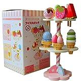 Luerme Pretend Play Set, 11 Stück Eiscreme Spielzeug aus Holz Simulation Spielhaus Eiscreme...