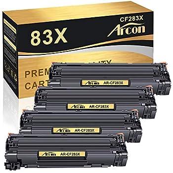 Arcon Compatible Toner Cartridge Replacement for HP 83X CF283X for HP Laserjet Pro MFP M201dw M201n M202n M202dw M225dn M225dw M225rdn Printer  Black 4-Pack