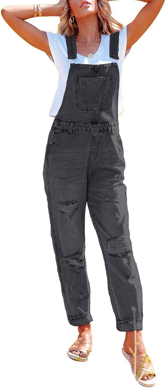 HAPCOPE Women's Classic Stretch Adjustable Max 55% OFF Overalls Bib Ri Bombing free shipping Denim