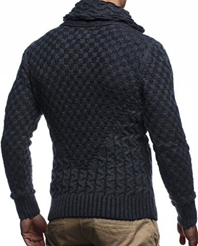 Leif-Nelson-Mens-Knitted-Jacket-Turtleneck-Cardigan-Winter-Pullover-Hoodies-Casual-Sweaters-Jumper-LN5340