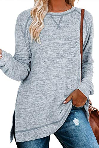 NEYOUQE Older Tall Womens Winter Cozy Dressy Big Comfy Sweaters Tunic for Women Cute Underwear Long Sleeve Workout Maternity Tops Clothes for Teens Girls Trendy Work Jacket Sissy Clothes Sky Blue XL
