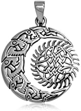 Talismanic Silver of London Pendentif Wicca Neo Pacen Pentagramme avec Phases de la Lune en Argent Massif Sterling 925