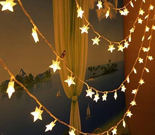 LED cadena Luz (10 M 100 LED estrellas Luz Cadenas funciona con pilas blanco cálido Interior Iluminación decorativa para jardín, Apartamentos, Bailar, boda fiesta de Navidad, etc, plástico, warmweiß