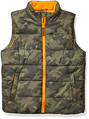 Amazon Essentials Toddler Boys Heavy-Weight Puffer Vests, Camo, 2T
