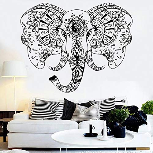 Elephant Head Vinyl Wall Decal Animal Tribal Ornament Exquisite Headboard Mural Interior Design Stickers Sophisticated