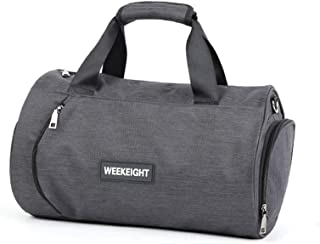 doKool Fitness Sports Gym Bag with Shoes Compartment Waterproof Travel Duffle Bag for Women and Men (Small, Dark Grey)