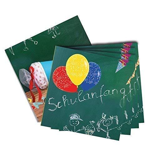 Lively Moments 20 Servietten / Papierservietten zur Einschulung / 1. Schultag Dekoration / Partydekoration