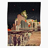 Sconosciuto Computer Road Surrealism Collage Software People Pop Surreal Vintage Home Decor Wall Art Print Poster !