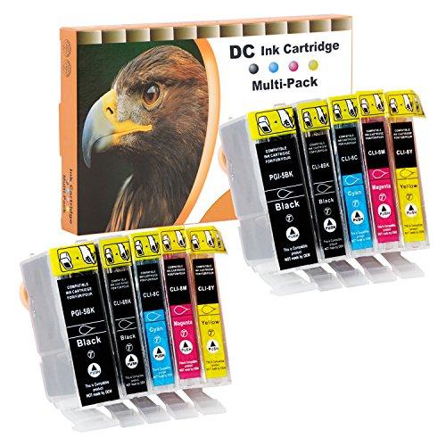 D&C 10x Druckerpatronen Kompatibel für Canon PGI-5 CLI-8 für Canon Pixma iP3300 iP3500 iP4200 iP4200x iP4300 iP4500 iP4500x iP5200 iP5200r iP5300 iP6600 iP6700 iX4000 iX5000 MP500 MP510 MP520 MP520x