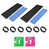 2Pack M.2 Heatsink,Aluminum Heatsinks,SSD Heatsinks Cooler with Silicone Thermal Pad for PCIe NVMe M.2 2280