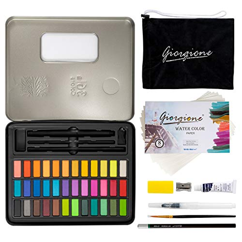 Watercolor Paint Set, 36 Colors Watercolor Pigment for Kids Adults with Gift Box