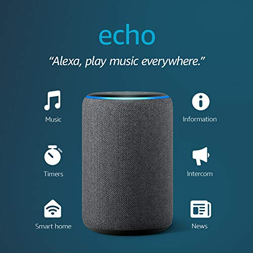 Echo (3rd Gen)- Smart speaker with Alexa- Charcoal