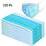 100 PCS Maschera Anti Polvere Medica Monouso 3 Strati Anti Polvere per...