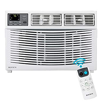 ROVSUN 10000 BTU Window Air Conditioner Energy Saving AC Unit with Remote Control & Timer Function Ideal for Rooms up to 450 Square Feet 110V/60Hz White