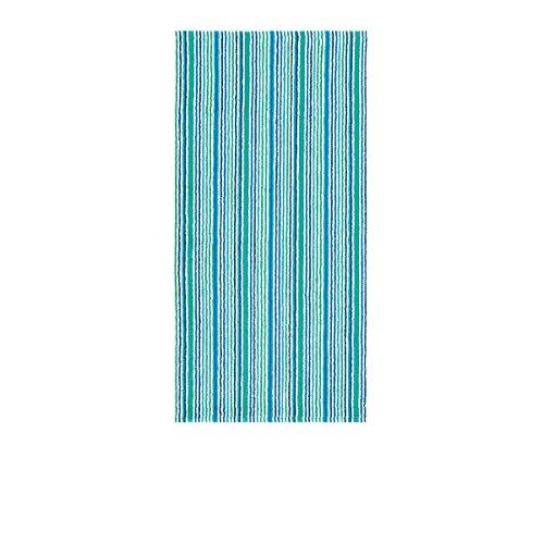 Egeria Frottier Handtücher Combi Stripes Pool Green Handtuch 50x100 cm