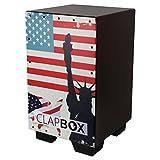 Clapbox Graphic Cajon -Brown, American Maple (H:50 W:30 L:30) - 3 Internal Snares