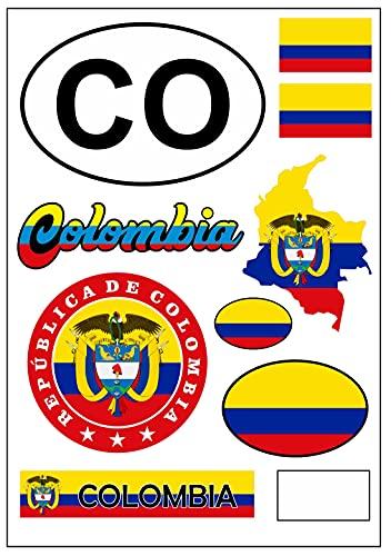 aprom Pegatina para coche o moto, diseño de bandera de Colombia