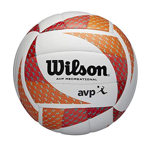 Wilson Balón de Voleibol AVP Style, Voleibol de Playa, Cuero Compuesto, Tamaño Oficial, Multicolor, WTH306202XB