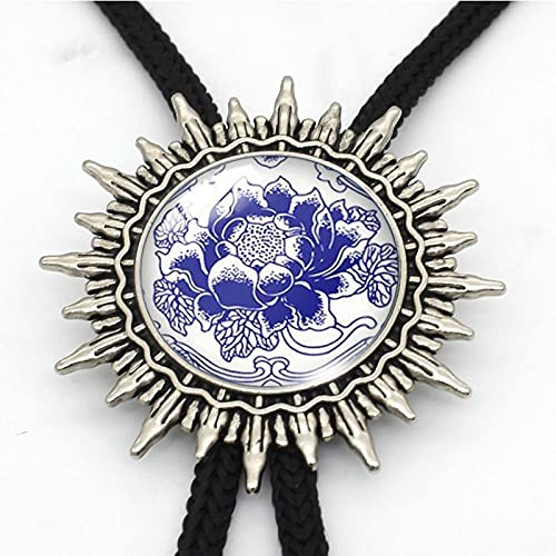 Lztly Corbata bolo Bolo Corbata Metal Cuello de Metal Corbata Collar de Regalo Hecho A Mano Novedad Colgantes y Monedas Vaquero Corbata (Color : 40)
