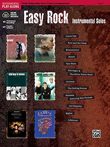 Easy Rock Instrumental Solos for Strings, Level 1: Violin (Book & CD) (Easy...
