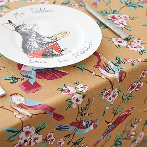 WEIFENG Tela de Mantel de Mesa de té de Mantel de pájaro de Flor Americana Retro de Estilo japonés Mantel Occidental Pájaro Rojo 140 * 220