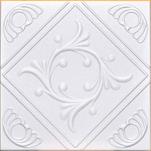 50pc of Anet White (20'x20' Foam) Ceiling Tiles - Covers About 135sqft