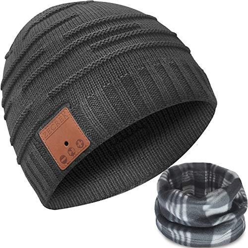 Bluetooth Beanie Hat Headphones Caps Novelty Headwear Gifts for Men/Dad/Women (Dark Gray)