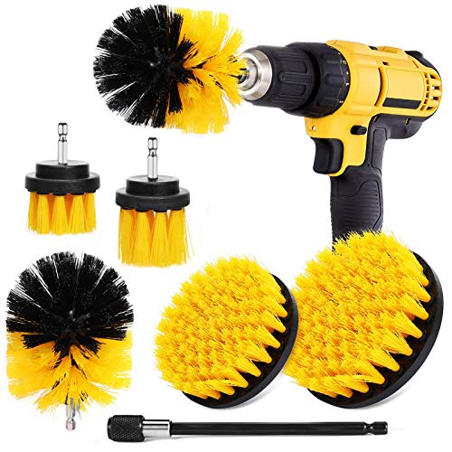 Drill Brush Drill Brushes Attachment Kit Power Scrubber Cleaning Kit Drill Brushes for Cleaning Drill Wire Brush Wire Brush Drill bit Drill Brush Attachment kit