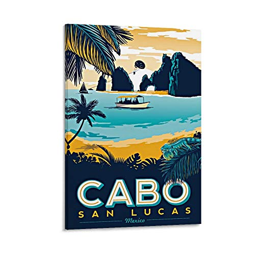 XIAOSHAN Vintage Travel Poster City Cabo San Lucas Poster Decorative Painting Canvas Wall Art Living Room Posters Bedroom Painting 20x30inch(50x75cm)