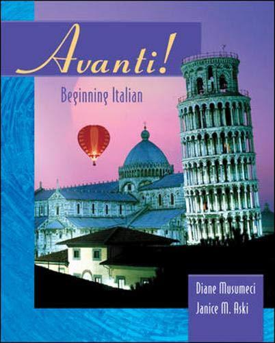 Avanti: Beginning Italian Student Edition with Bind-in passcode