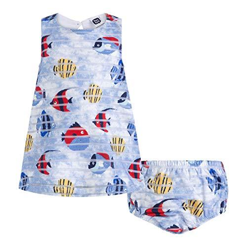 Tuc Tuc Vestido Punto Fantasãa Niã±a Arrecife De Coral, Azul (Azul 16), 5 años (Tamaño del Fabricante:5A) para Niñas