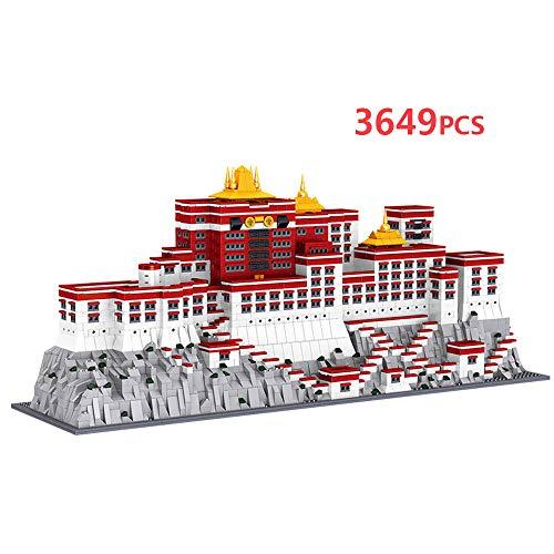 JMG Tibet China Potala Palace Weltberühmtes Wahrzeichen 3600 Stück Mini-Bausteine Kits Kinderbau Pädagogische DIY Spielzeug Geschenke