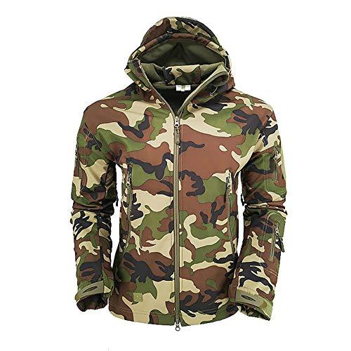 #N/V Chaqueta de camuflaje al aire libre masculina de piel de tiburón chaqueta suave de otoño e invierno más terciopelo cálido chaqueta
