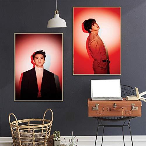 Koreaanse wave art zijde poster muziek poster woonkamer muur foto slaapkamer decoratie canvas schilderij replica-40x60cmx2pcs geen frame