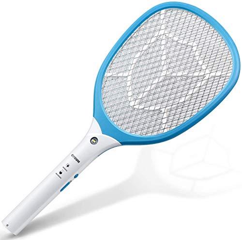 CYOUH Raqueta Mosquitos Recargable, Raqueta Mosquitos Electrica con Luces USB Recargable Asesino de Mosquitos、Insectos y Moscas