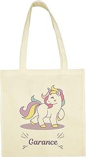 C32 Tote Bag Licorne à personnaliser, sac licorne, sac enfant licorne, sac coton, tote bag personnalisable, sac prénom, sa...