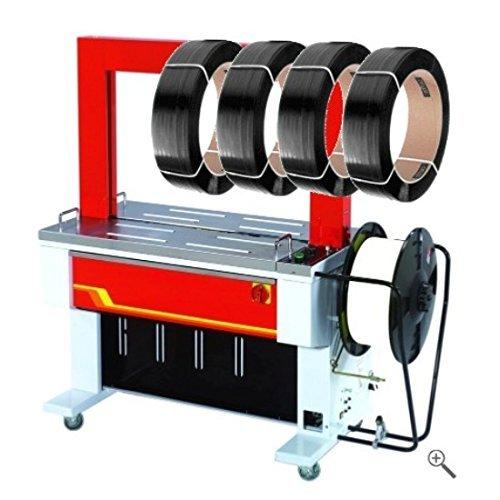 Vollautomatische Umreifungsmaschine UP601D - Bündelmaschine - Umreifungsautomat - Bändermaschine - Umreifungsgerät - PP Band Umreifung - inkl. 18000 Meter PP Band