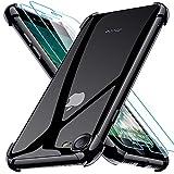 Joyguard Funda Compatible con iPhone SE 2020 con 2 Protector de Pantalla, Funda para iPhone 8 Funda para iPhone 7 Funda para iPhone SE 2020-4.7 Pulgada Negro
