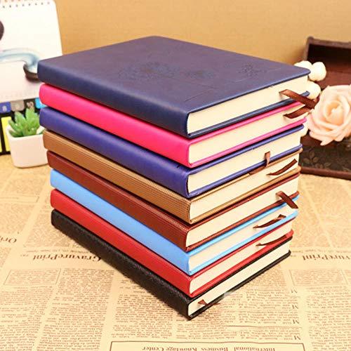 Libreta de notas tamaño mediano A5B5girl con rayas para regalo y viaje, tapa dura, fácil de rellenar, bloc de notas, diario de negocios, con separadores, color azul